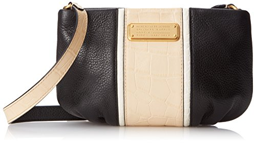 Marc Jacobs Croc (Marc by Marc Jacobs New Q Croc Striped Percy Cross Body Bag, Black Multi, One Size)