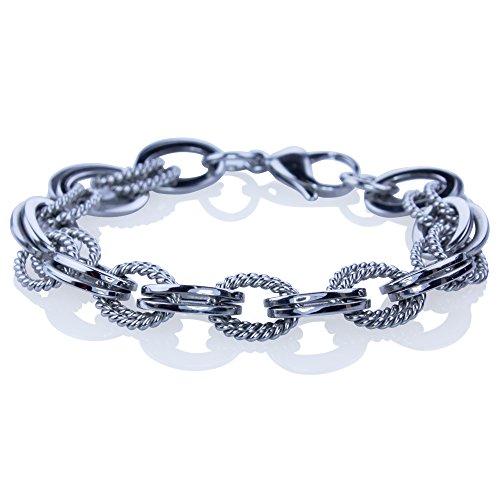 KeyLimeBay Double Link Stainless Steel Heavy Bracelet