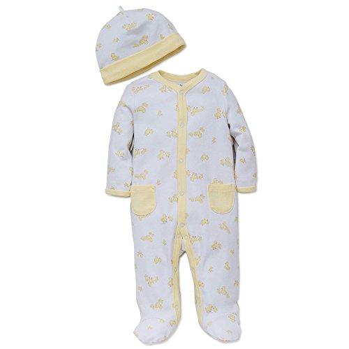 Little-Me-Unisex-Baby-2-Piece-Footie-and-Cap-Set
