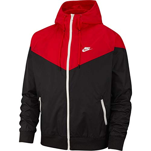 Windrunner sail Sportswear Large Giacca Red black 011 Nike University Uomo Nero 1B4axnxw5q