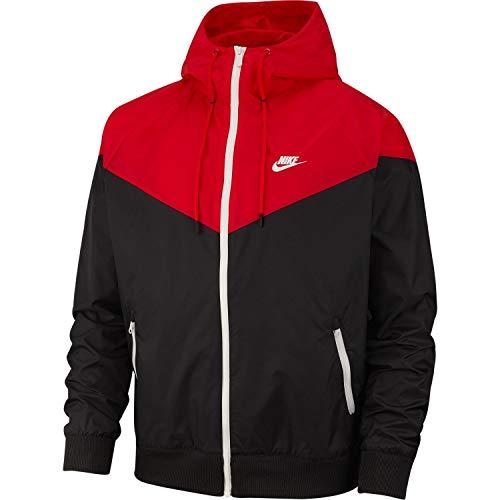 Giacca University Uomo Windrunner Nike sail Sportswear 011 Medium Red Nero black EqCx1x