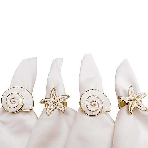 (Mixed Shells Napkin Rings (Set of 4))