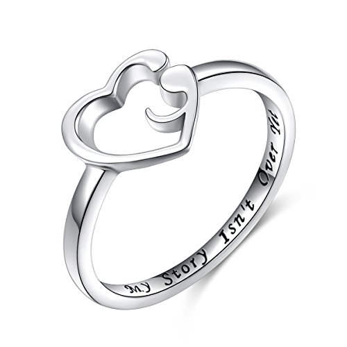 - S925 Sterling Silver My Story Isn't Over Yet Semicolon Ring Size 5 6 7 8 9 (4)