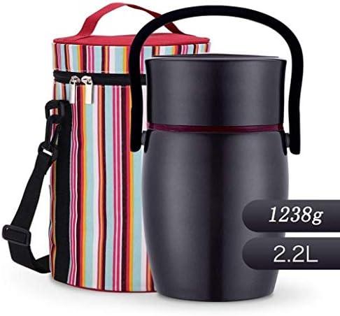 保冷ランチバッグと熱い食べ物漏れ防止サーマル食品スープ魔法瓶のための真空熱弁当ランチボックスステンレスランチジャー