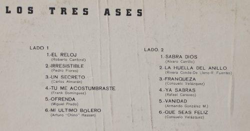 Los Tres - Los Tres Ases : El Rloj; Un Secreto; Tu Me Acostumbraste; Ofreda; Mi Ultimo Bolero; Sabra Dios; La Huella Del Anillo; Franqueza; Ya Sabras; ...