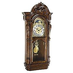 Hermle Shreveport Mechanical Wall Clock in Walnut Finish