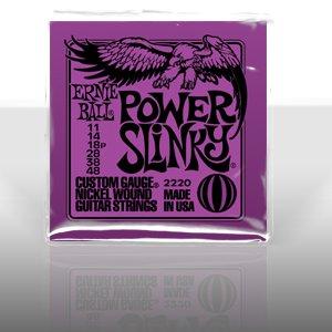 Ernie Ball 2220 Power Slinky Nickel Round Wound Electric Guitar Strings 3 Pack