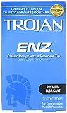 Trojan ENZ Premium Lubricant Latex Condoms - 12 ct, Pack of 3