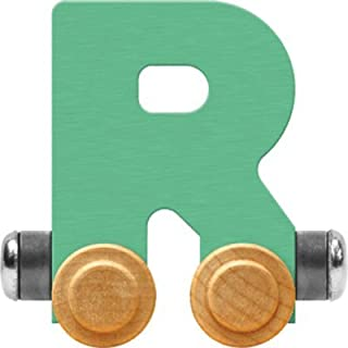 product image for Maple Landmark NameTrain Pastel Letter Car R - Made in USA (Green)