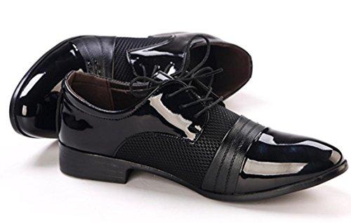 CSDM Uomo Casual Scarpe da sposa scarpe da sposa Punto a tracolla Respirabile in gomma Bottom , black , 46