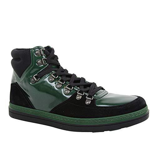 High top Dark Green Suede Leather Sneaker 368496 1077 (9.5 G / 10 US) ()