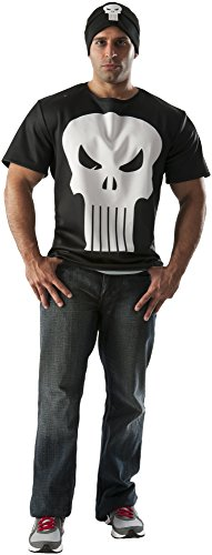 [Rubie's Costume Co Men's Marvel Universe Punisher T-Shirt, Multi, Medium] (Punisher Costumes For Sale)