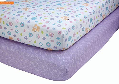 Mikash New Soft Little Love by Adorable Orchard - 2 Count Crib Sheet Set - Multi-Colored | Style 84600656