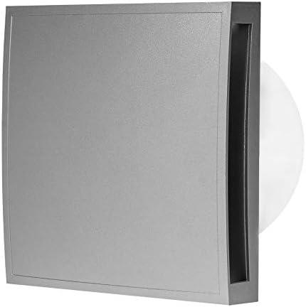/Ø 125mm Leise Badl/üfter mit Silber Front Wand Ventilatoren Abluftventilator Deckenventilator