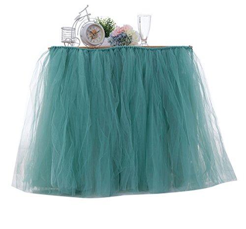 LaoZan Dcorations de Fte Tutu Jupe de Table en Tulle Table Dcoration pour Mariage Fte d'anniversaire Vert
