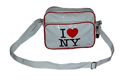 I NYC Handbag Print White NY Bag Crossbody LOVE Purse With Small Retro OvqrnxUtO