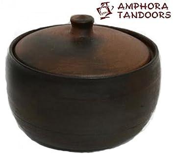 amfora/Amphora Tandoor Oven – Cazuela de cerámica, 2 L, con Tapa/
