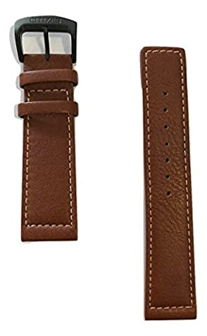 Original Citizen Men's Strap 22mm Brown Leather Band for Watch BM8475-26E (Citizen 26e)