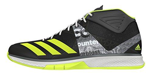 Adidas Counterblast Falcon Mid, Chaussures de Handball Homme, Noir (Neguti/Amasol/Ftwbla), 40 EU