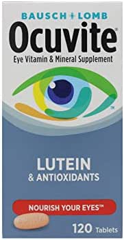 Ocuvite Supplement with Lutein 120 Tabs Pack of 2