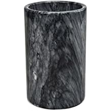 Modern Innovations Grey Marble Wine & Beverage Cooler To Use As Champagne Bottle Chiller, Wine Carrier, Flower Pot, Kitchen Utensil Holder, Pantry Caddy Organizer & Dining Table Centerpiece For Décor
