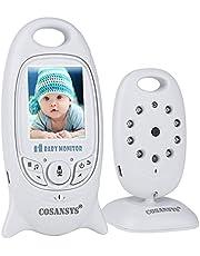 Video Baby Monitor Babyphone mit Kamera Gegensprechfunktion UOUNE Digital kabellose Überwachungskamera (Schlafmodus, Nachtsicht, Temperatursensor, Schlaflieder), 2.0 Zoll LCD Display
