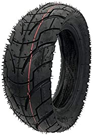 Bzocio 10 Inch Pneumatic Tyres 80/65-6 for Electric Scooter E-Bike 10X3.0-6 Road Tires Inner Tubes for Speedua
