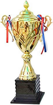 GAXQFEI Sculpture Metal Trophy Basketball Football Trophy Mvp Competition Trophy Plating Metal Trophy, Event C