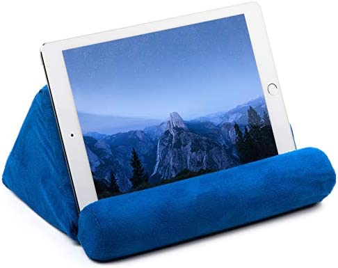 iPad Tablet Pillow Holder for Lap – Pillow for Tablet or iPad – Universal Phone and Tablet Holder for Bed Can Be Used also on Floor, Desk, Chair, Couch – Blue Color