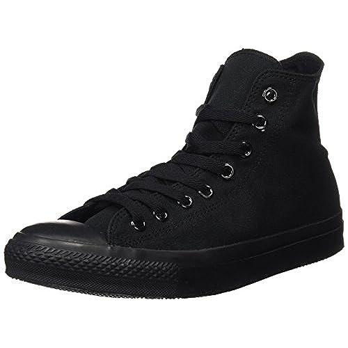 0842c2b8a1f ... uk converse unisex chuck taylor all star hi top mono black sneaker 7 bm  us 5