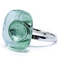 Joyería para mujer - Anillo de plata y vidrio brillante Bacardi