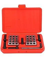 2 sztuki Bloki równoległe, 1-2-3 Bloki 23 otwory, stal chromowana, dokładność 0,0001 cala, do frezarek, do konfiguracji, układania i prac kontrolnych
