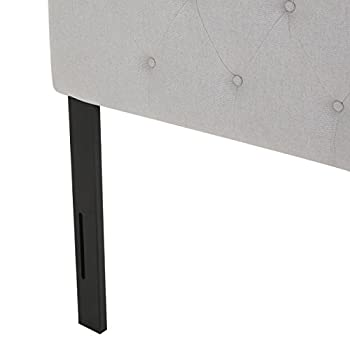 Marina Fabric Queen/Full Tufted Headboard (Light Grey)