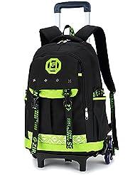Meetbelify Kids Rolling Backpacks Luggage Six Or Two Wheels Unisex Trolley School Bags