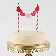 Hearts & Love Decorative Cake Toppers for Wedding Showers, Anniversary Parties & Valentine's Day (Heart)