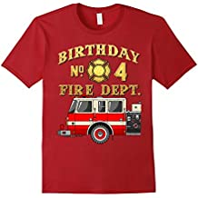 4TH Birthday Fire Dept T-shirt for 4 year old party