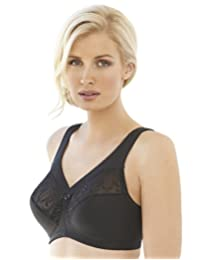 Glamorise Women's Plus-Size Embroidered Magic Lift Bra