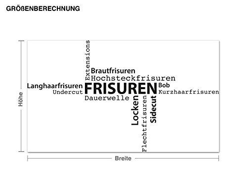 Klebefieber Wandtattoo Frisuren B B B x H  130cm x 76cm Farbe  Dunkelgrau B072F3SBTP Wandtattoos & Wandbilder 61131f
