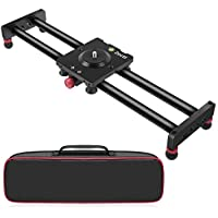 "Zecti Camera Slider Carbon Fiber Dolly Rail, 15.7""/40cm Portable Dolly Track with 4 Bearings for Smartphone Nikon Canon Sony Camera 12lbs Loading"