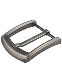 "1.5"" (37-40 mm) Single Prong Square Belt Buckle Replacement Belt Buckle (Gray08)"