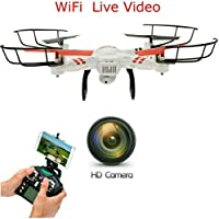 New SkyCo 686 Rc Wifi Fpv Wifi Drone Quadcopter with HD Camera Live Video One-Key-Return RFT Headless Helicopter Altitude Hold,4 Ch 2.4ghz 6-gyro,Headless System