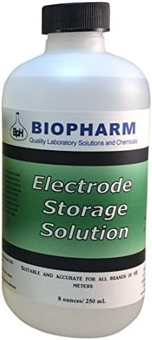 Biopharm pH/ORP Electrode Storage Solution 8 oz (250 mL), Suitable for All pH Meters