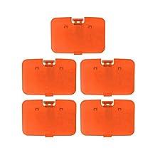 Lot 5 pcs Solid Fire Orange Expansion Pak Lid Cover Nintendo 64 Memory Jumper Expansion N64
