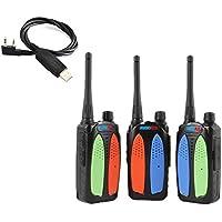 RADIOPLUS CN-588Plus 3W Mini VHF 136-174MHz Two Way Radio+1pc USB Programming Cable(Pack of 3)