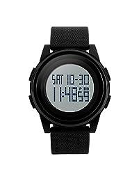 Gosasa New Soft Band Sport Watch LED Electronic Digital Watch 5ATM Waterproof Outdoor Sport Watches For Women Men Wrist Watch