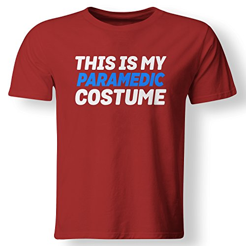 My Paramedic Costume Funny Lazy Easy T Shirt Red Large (Paramedic Costume)