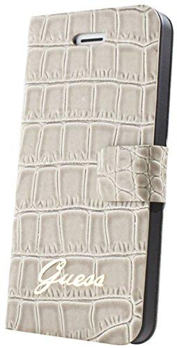 GUESS Tasche Flip Folio Case für iPhone 4 und 4S - Beige Croco
