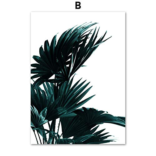Green Palm Leaves Gold Pineapple Posters and Prints Wall Art Canvas Painting Wall Pictures for Living Room Bedroom Decor,40X50 cm No ()