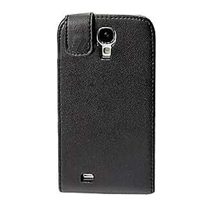 Ultra fino cuero de la PU del caso del tirón para Samsung i9500 Galaxy i9500-s4 negro