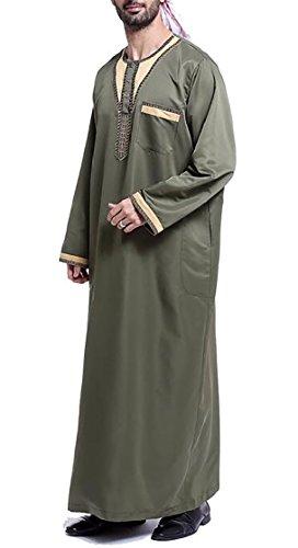 M&S&W Men Saudi Style Thobe Thoub Abaya Robe Daffah for sale  Delivered anywhere in USA